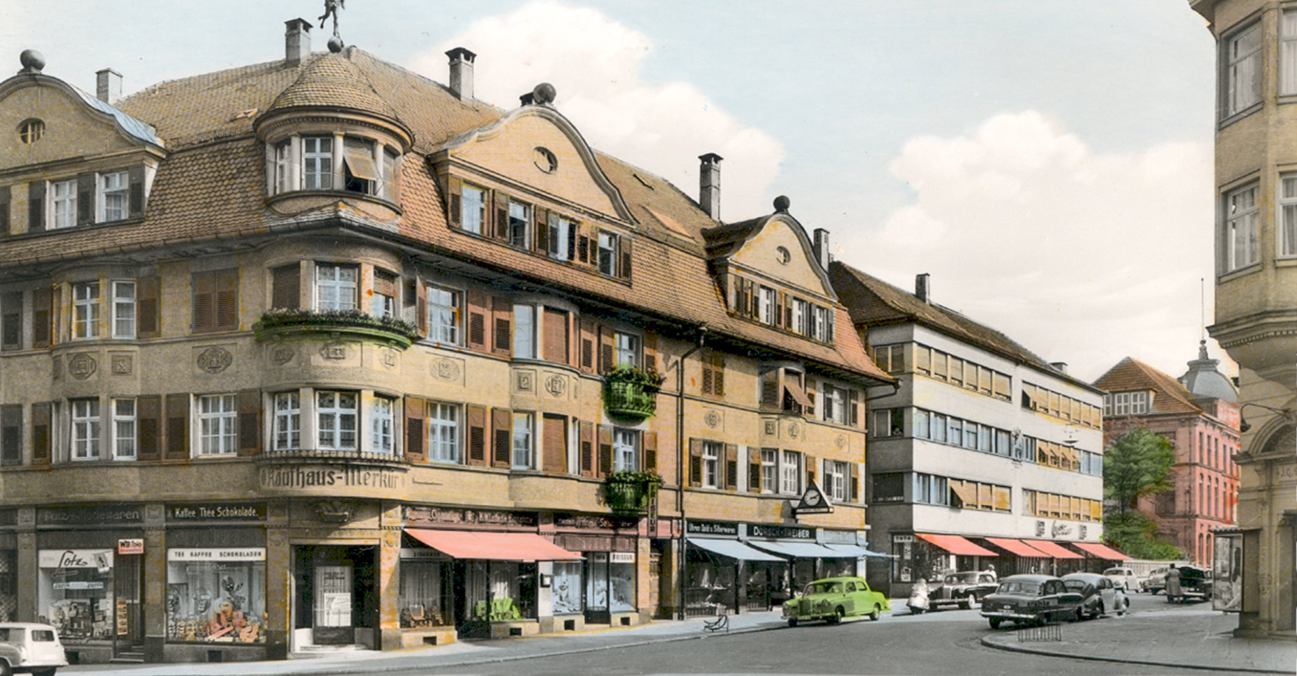 Jauch's first headquarters in Villingen-Schwenningen 1954
