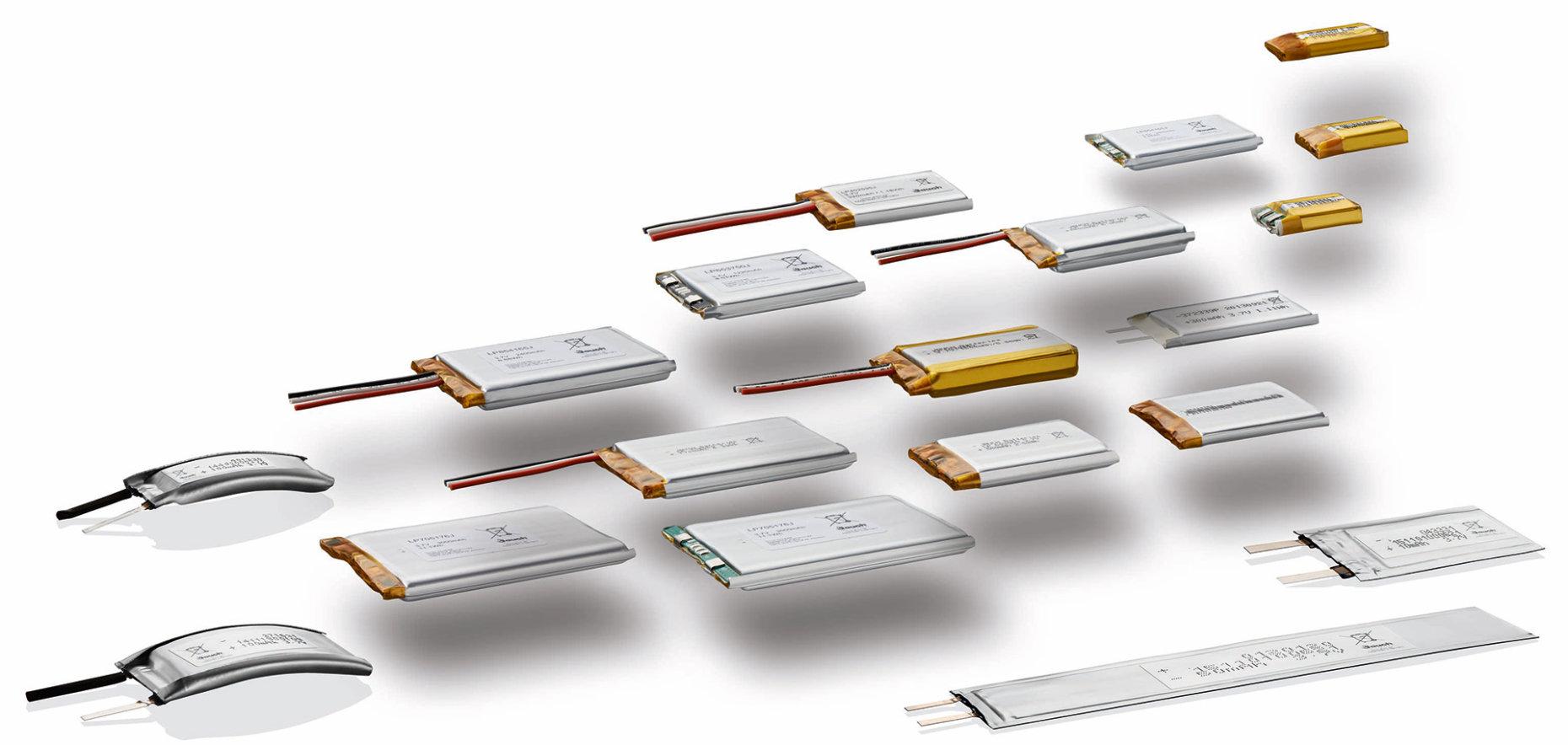 Sortiment der Lithium-Polymer-Batterien von Jauch