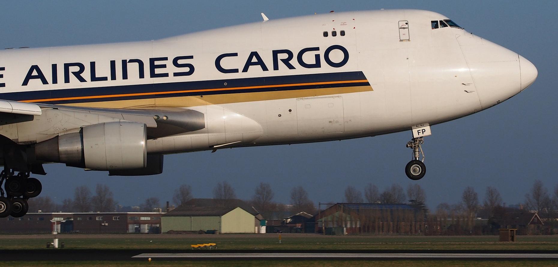 cargo plane at takeoff